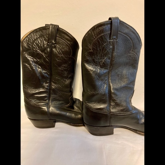 Tony Lama Other - Black leather Tony Lama boots mens 13.5 B
